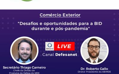 LIVE ABIMDE E MRE SOBRE OPORTUNIDADES DE EXPORTAÇÃO PARA A BID