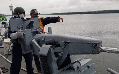 """Marinha realiza Verificação de Eficiência no Navio-Patrulha """"Guaíba"""""""