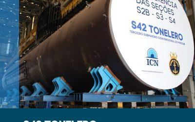 Novas seções do submarino Tonelero serão transportados pela ICN