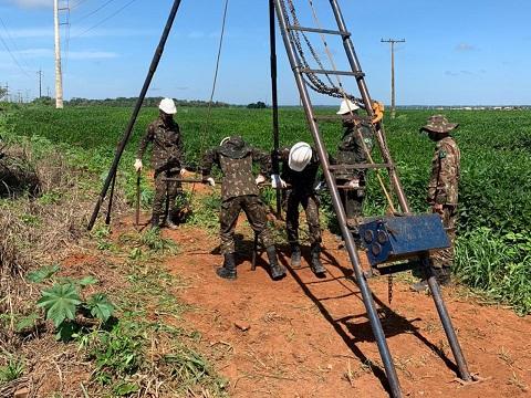 Engenharia do Exército inicia testes de solo para obras no MT