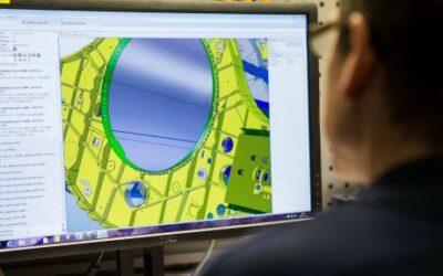Fábrica de aeroestruturas da Saab no Brasil otimiza processos para o Gripen com uso de tecnologia digital