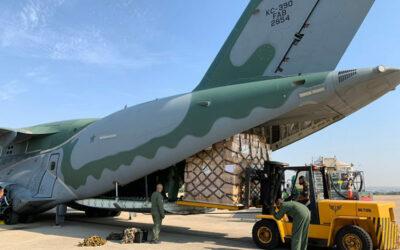 KC-390 da FAB transporta mais 5 toneladas de doações em ajuda humanitária ao Haiti