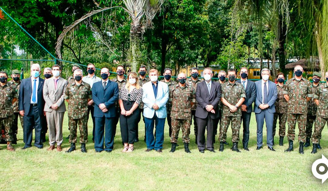 Condor recebe visita do General José Eduardo Pereira, Comandante Militar do Leste